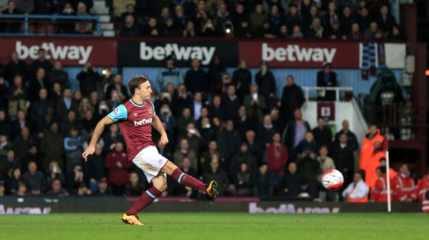 Mark Noble scored twice from the penalty spot as West Ham beat Watford 3-1