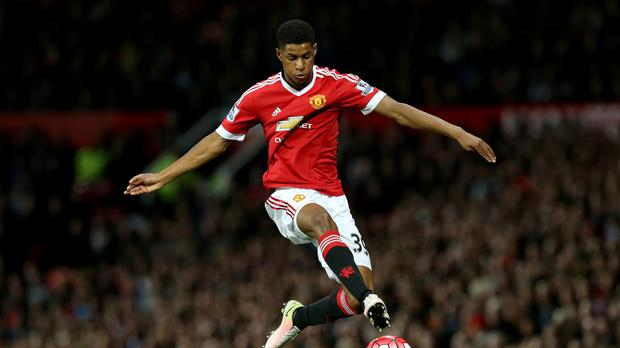 Marcus Rashford, pictured, is being considered for Euro 2016 by Roy Hodgson