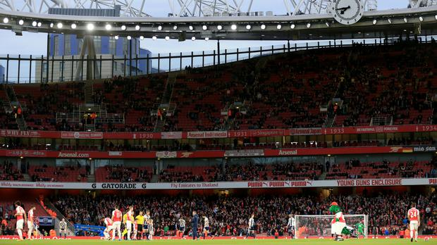 There were plenty of empty seats at the Emirates Stadium for Arsenal's clash with West Brom.