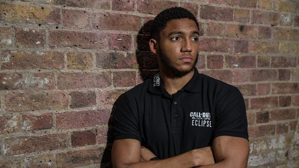 Joe Gomez at the Call of Duty: Black Ops III Eclipse DLC launch at Shoreditch Studios, London.