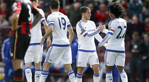 Guus Hiddink is adamant Eden Hazard, second right, can return to top form next term