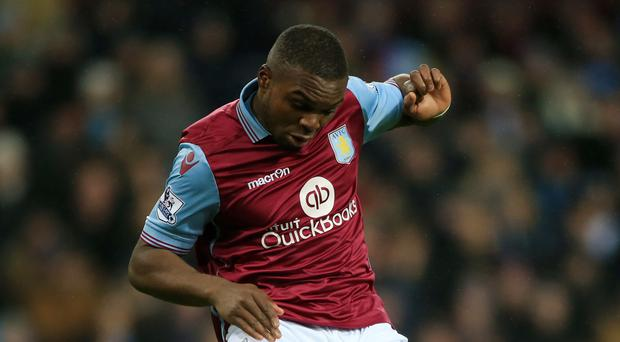 Aston Villa's Jores Okore, pictured, is currently training with the club's under-21s after being dropped by caretaker boss Eric Black