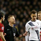 Tottenham midfielder Dele Alli (right) has been handed a three-match ban after punching West Brom's Claudio Yacob (left).
