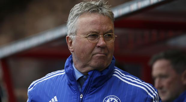 Guus Hiddink's Chelsea host Tottenham on Monday