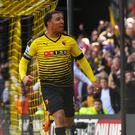 Troy Deeney enjoyed his two goals against Aston Villa