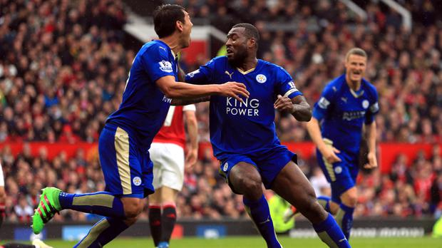 Wes Morgan's equaliser earned Leicester a point