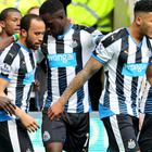 Newcastle winger Andros Townsend, centre left, is hoping there are more goals to come