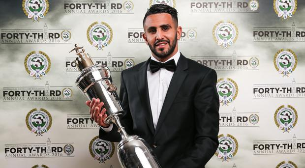 Riyad Mahrez's form for Leicester this season saw him win the PFA Player of the Year award.
