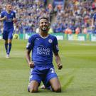 Riyad Mahrez celebrates scoring in Leicester's 4-2 opening day win over Sunderland as they set the tone for the season.