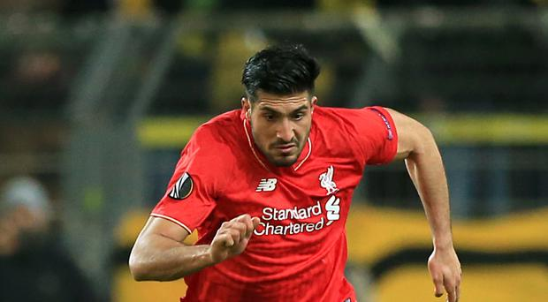 Liverpool midfielder Emre Can has returned to training ahead of schedule after damaging ankle ligaments.