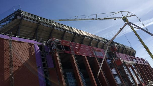 The new Main Stand at Anfield is taking shape