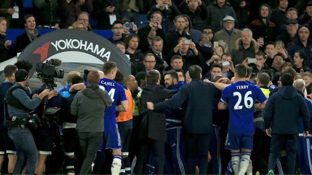 Tempers flared between Chelsea and Tottenham after a feisty Barclays Premier League match at Stamford Bridge