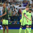 Manchester City went out of the Champions League in the semi-final against Real Madrid - and face a battle to qualify directly again next season