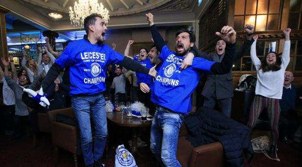 Leicester fans have been celebrating all week after their team won the Barclays Premier League title on Monday