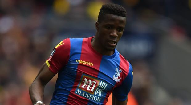 Wilfried Zaha is a doubt for Crystal Palace's FA Cup final against Manchester United