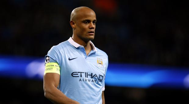 Manchester City captain Vincent Kompany is sidelined again