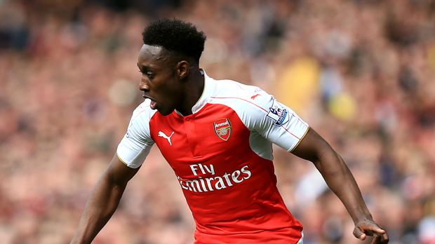 Danny Welbeck will look to fire Arsenal into next season's Champions League