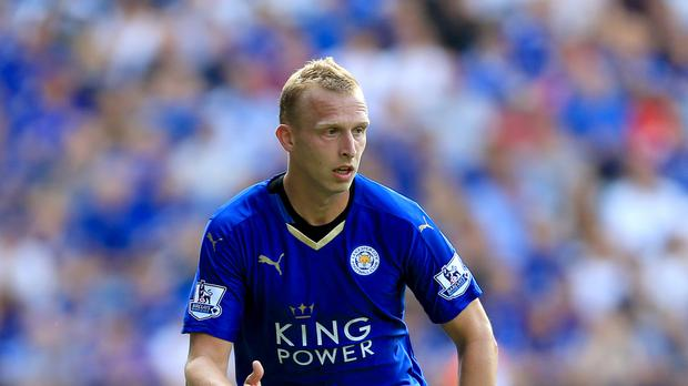 Leicester defender Ritchie De Laet had two reasons to be cheerful on Saturday