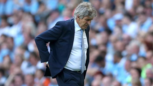 Manuel Pellegrini's Manchester City could drop out of the top four next week