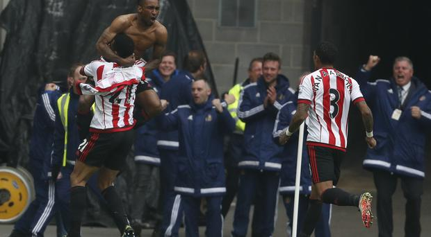Jermain Defoe, left, has scored 15 goals this season for Sunderland