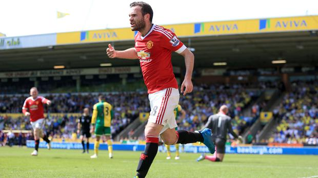 Juan Mata scored the only goal as Manchester United won at Norwich on Saturday