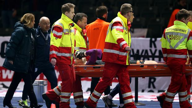 Jack Butland fractured his ankle in March while playing for England