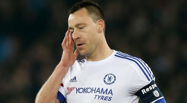 John Terry will miss Chelsea's final two fixtures of the season against Liverpool and Leicester due to suspension