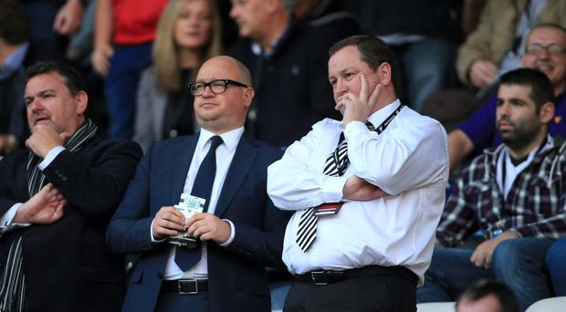Lee Charnley, left, has apologised to fans for Newcastle's relegation from the Barclays Premier League