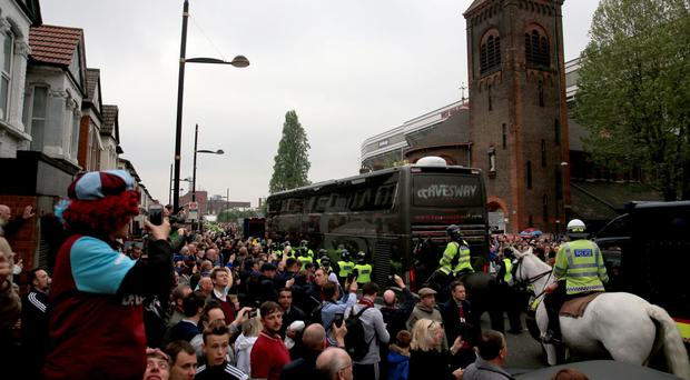 A further arrest has been made after Tuesday's trouble at Upton Park