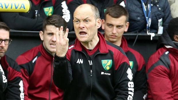 Alex Neil hopes his Norwich side, relegated from the Premier League, can finish the season with a win at Everton