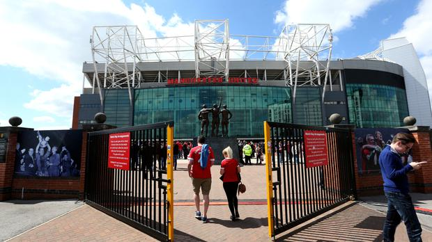 Fans make their way to Old Trafford