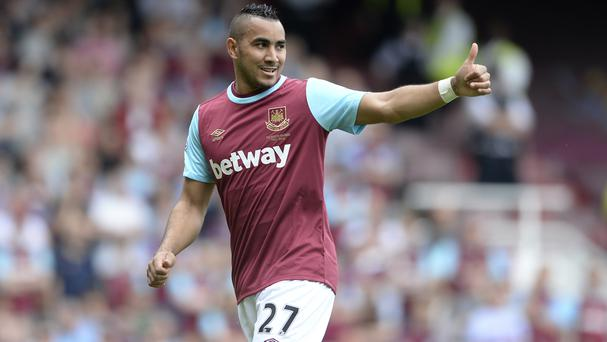 Dimitri Payet was unavailable for West Ham at Stoke
