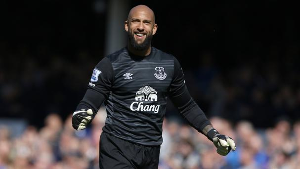Tim Howard had a happy end to his Everton career