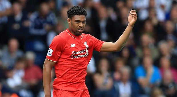 Jordon Ibe celebrates scoring Liverpool's equaliser