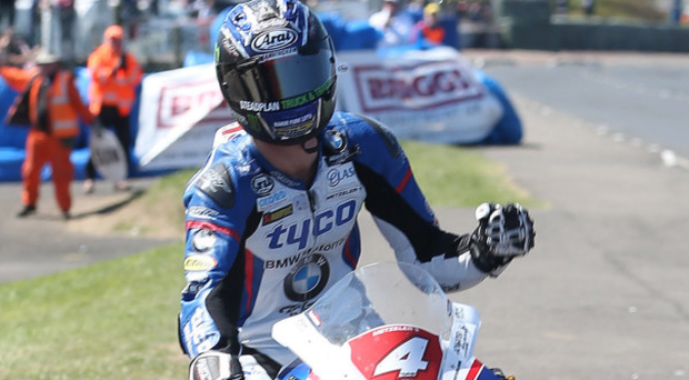 Fast lane: Ian Hutchison was in fine form at the weekend