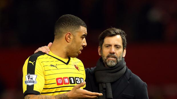 Watford captain Troy Deeney (left) defended Quique Sanchez Flores' record.