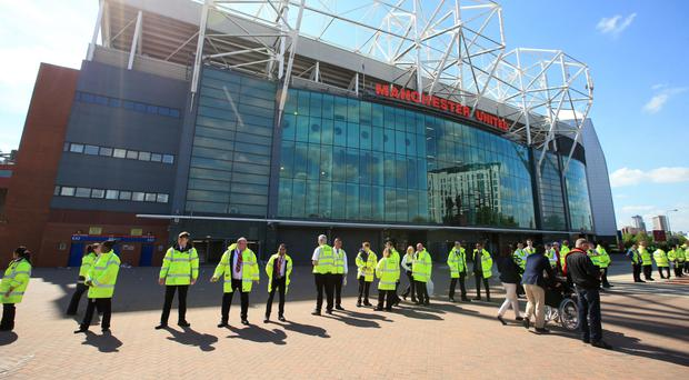 Old Trafford was evacuated on Sunday after a bomb scare