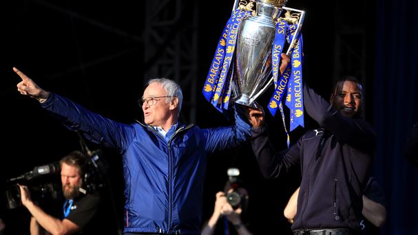 Claudio Ranieri had a busy day of celebrations on Monday