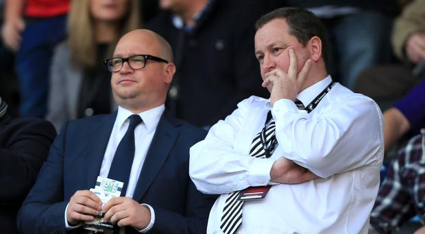 Lee Charnley, left, remains in talks with manager Rafael Benitez over his future