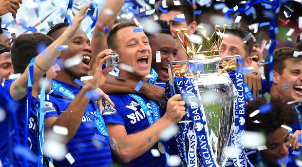 Captain John Terry has led Chelsea to four Premier League titles