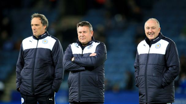 Craig Shakespeare (centre) and Steve Walsh (right) have signed new contracts with Leicester