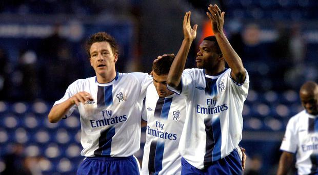 John Terry (left) and Marcel Desailly (right) played in defence together for Chelsea