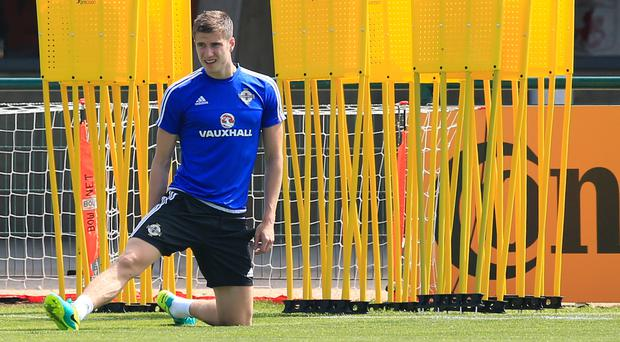 Paddy McNair will hope to start for Northern Ireland in Nice on Sunday