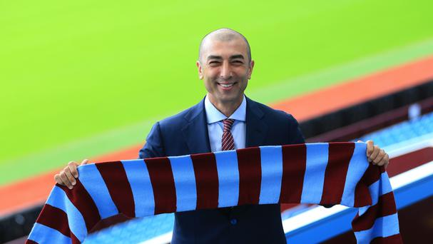 Aston Villa manager Roberto Di Matteo has become the club's fourth permanent boss since February 2015.