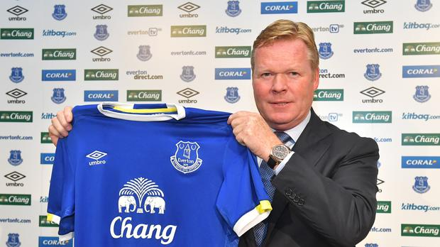 Ronald Koeman was named new Everton earlier this week
