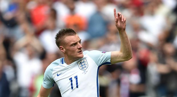 Leicester's Jamie Vardy scored in England's 2-1 win over Wales at Euro 2016 last week.