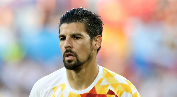 Manchester City's Nolito made his Spain debut at the age of 28