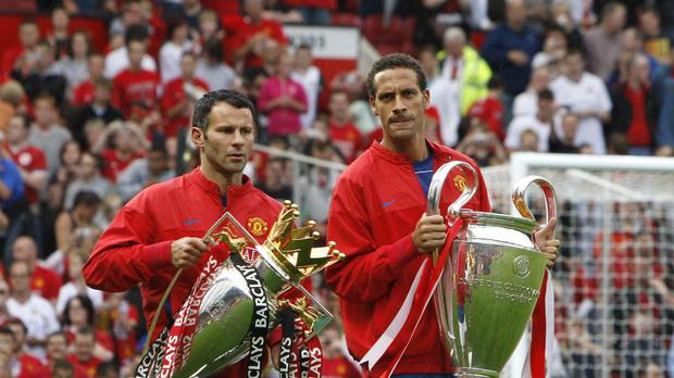 Ryan Giggs, pictured left, collected a vast array of silverware with Manchester United