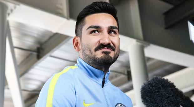 Ilkay Gundogan is currently sidelined by a knee injury