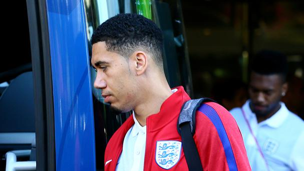 Manchester United and England defender Chris Smalling was taken to hospital in Bali